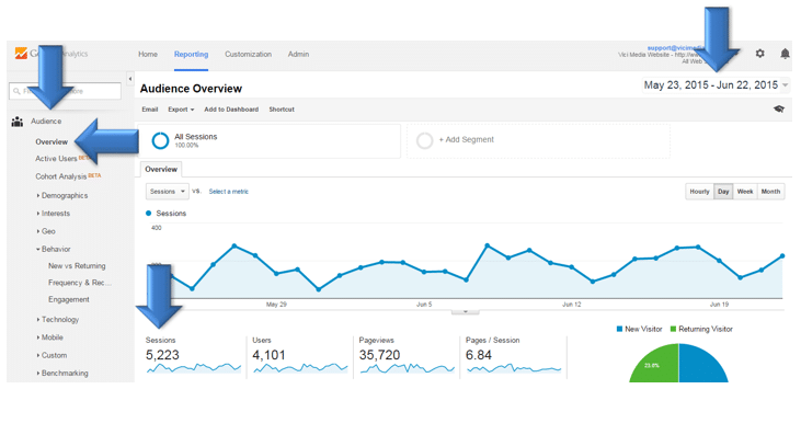 Vici Google Analytics page 3