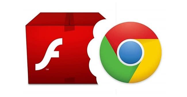 Crome logo Flash logo