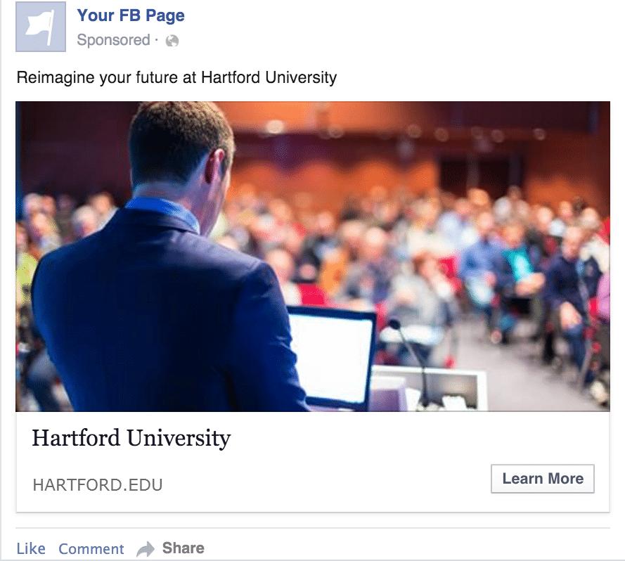 University Display Ad