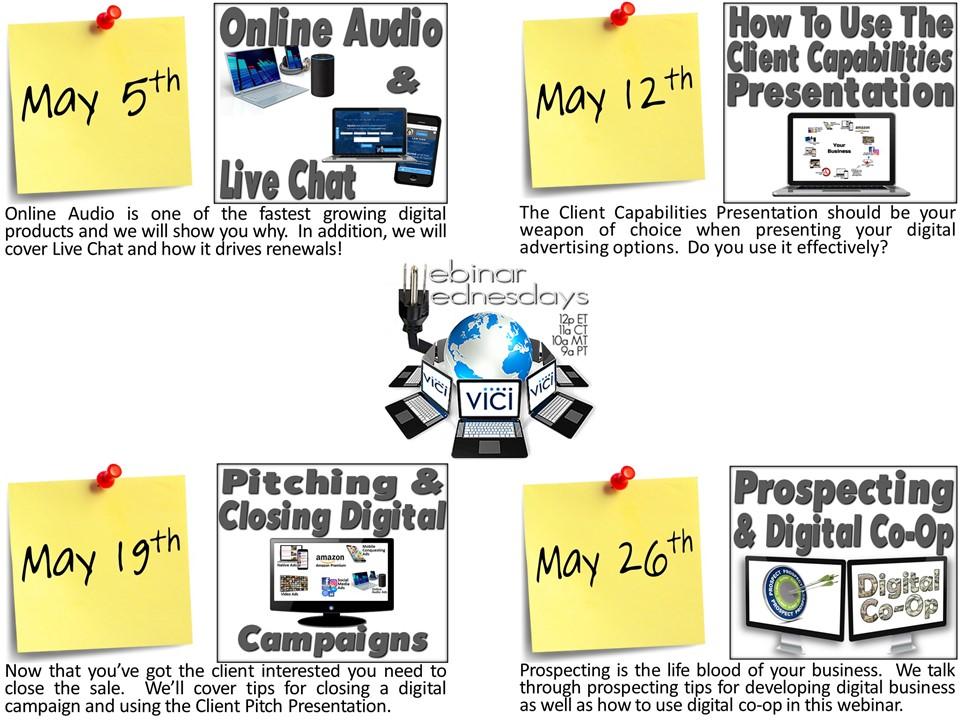 May webinar flyer