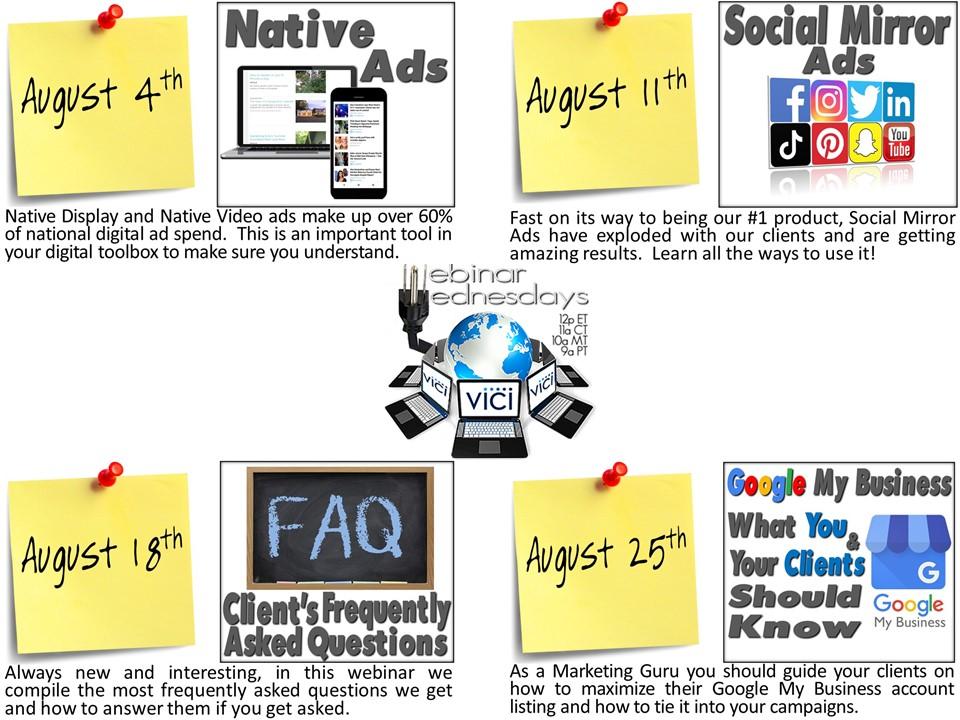 August Webinar Flyer
